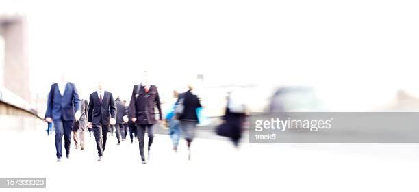 Geschäft abstrakte: high key verschwommene Pendler während der rush hour