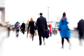 """""""Blurred business abstract of commuters on their way to the office.Long exposure, Lensbaby."""""""
