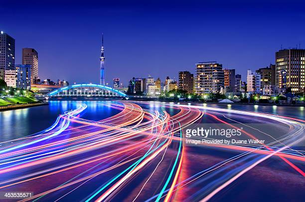 Rush Hour On Tokyo's Sumida River
