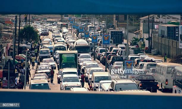 Rush hour traffic at downtown Luanda Angola