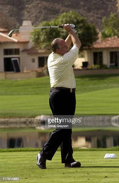 Rush Limbaugh during 44th Bob Hope Chrysler Classic Round Four at Arnold Palmer Private Course at PGA West in La Quinta California United States
