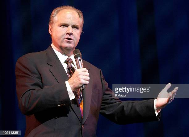 Rush Limbaugh during Clear Channel's 'Out Front' at Ford Theatre in New York City New York United States