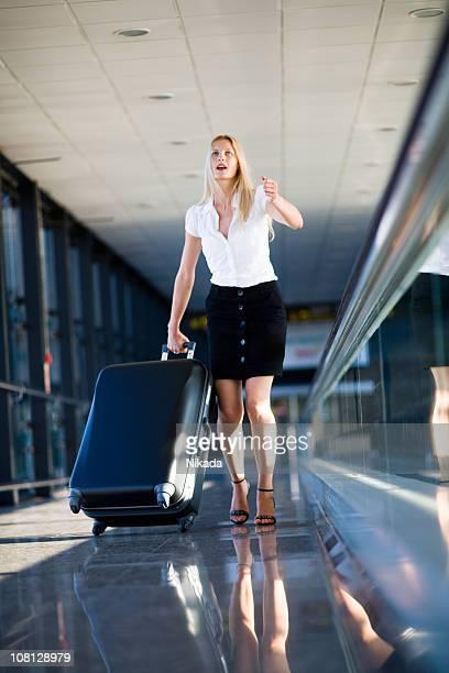 Rush pour prendre l'avion