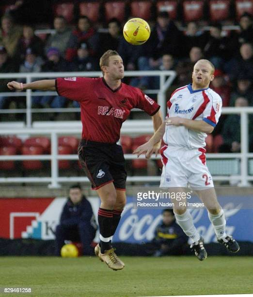 Rushden and Diamond's Sean Connelly and Swansea City's Lee Trundle in action THIS PICTURE CAN ONLY BE USED WITHIN THE CONTEXT OF AN EDITORIAL FEATURE...