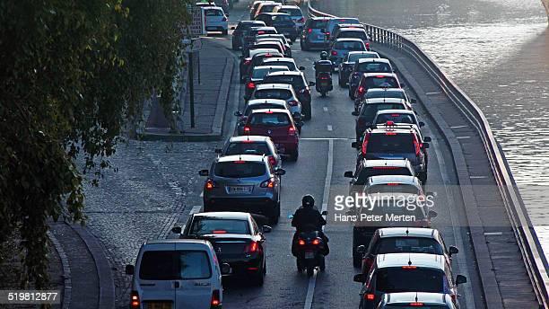 rush-hour at Voie Georges Pompidou, Paris