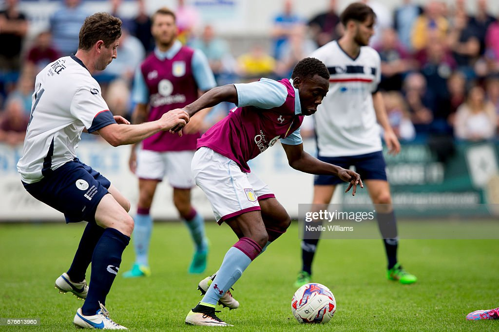 Rushian Hepburn-Murphy of Aston Villa during the Pre-Season Friendly match between AFC Telford and Aston Villa at the New Buckshead Stadium on July 16, 2016 in Telford, England.