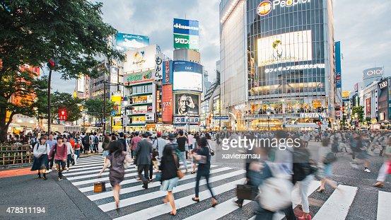 Rushing around Tokyo