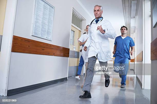 Rushing to a patient's aid