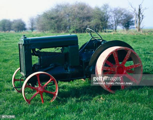 Rushton agricultural tractor on cast front and steel rear wheels made by AEC at Walthamstow London The Rushton tractor was built as competition to...