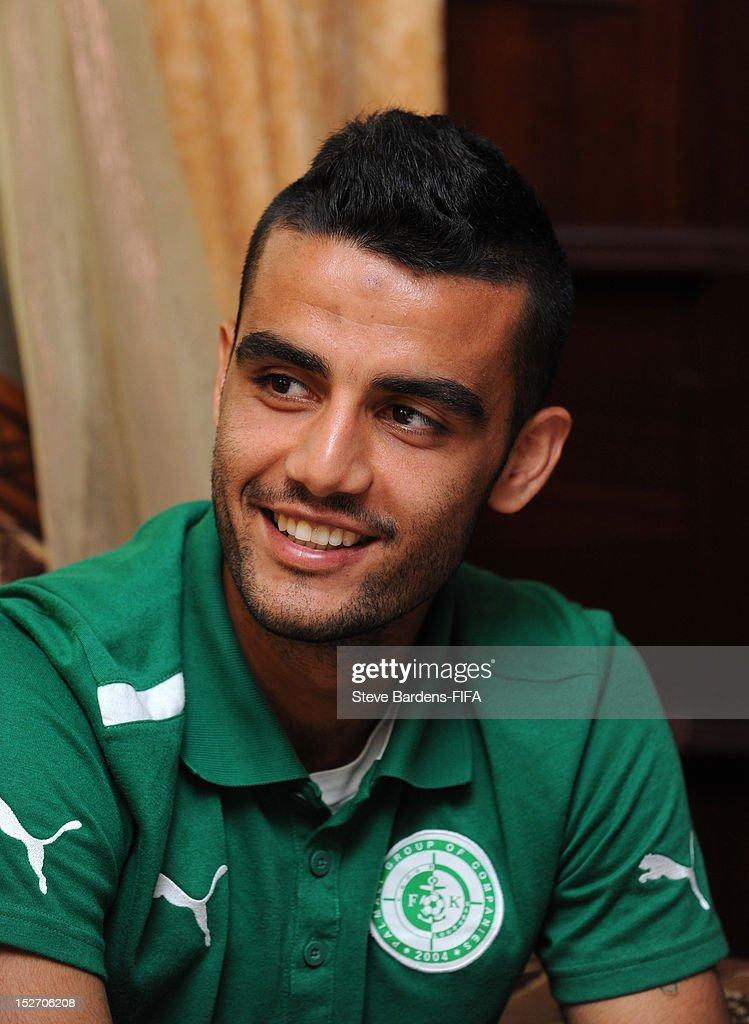 Ruslan Abishov of Azerbaijan Premier League team Khazar Lankaran on September 24 2012 in Baku Azerbaijan