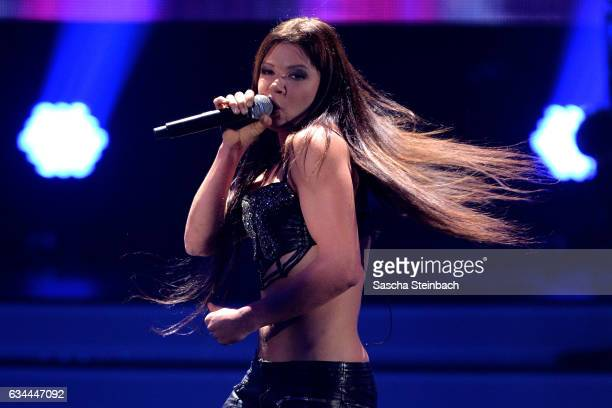 Ruslana attends the 'Eurovision Song Contest 2017 Unser Song' show on February 9 2017 in Cologne Germany