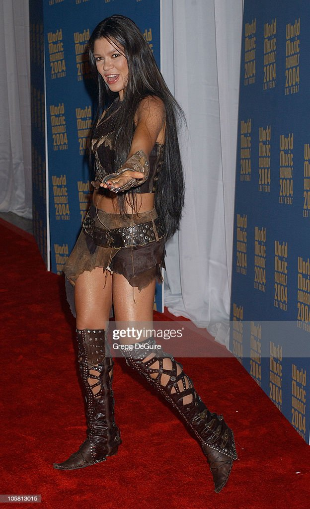 <a gi-track='captionPersonalityLinkClicked' href=/galleries/search?phrase=Ruslana&family=editorial&specificpeople=171840 ng-click='$event.stopPropagation()'>Ruslana</a> during 2004 World Music Awards - Arrivals at The Thomas and Mack Center in Las Vegas, Nevada, United States.