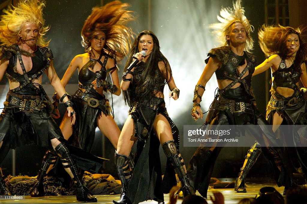 <a gi-track='captionPersonalityLinkClicked' href=/galleries/search?phrase=Ruslana&family=editorial&specificpeople=171840 ng-click='$event.stopPropagation()'>Ruslana</a> during 2004 World Music Awards - Show at The Thomas and Mack Center in Las Vegas, United States.