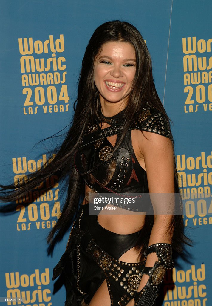 <a gi-track='captionPersonalityLinkClicked' href=/galleries/search?phrase=Ruslana&family=editorial&specificpeople=171840 ng-click='$event.stopPropagation()'>Ruslana</a> during 2004 World Music Awards VIP Dinner at Crustacean at Aladdin Hotel in Las Vegas, Nevada.