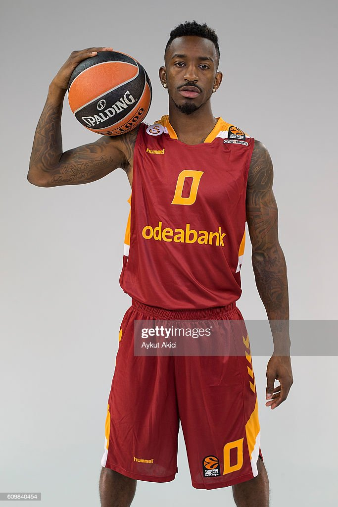 Russ Smith, #0 of Galatasaray Odeabank Istanbul poses during the 2016/2017 Turkish Airlines EuroLeague Media Day at Abdi Ipekci Arena on September 20, 2016 in Istanbul, Turkey.