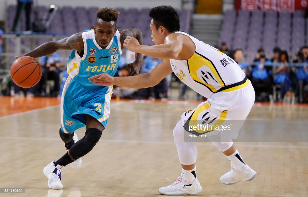 Russ Smith ££2 of Fujian SBS in action during the 2017/2018 CBA League match between Beijing Beikong Fly Dragons and Fujian SBS at Beijing Olympic Sports Center on November 14, 2017 in Beijing, China.