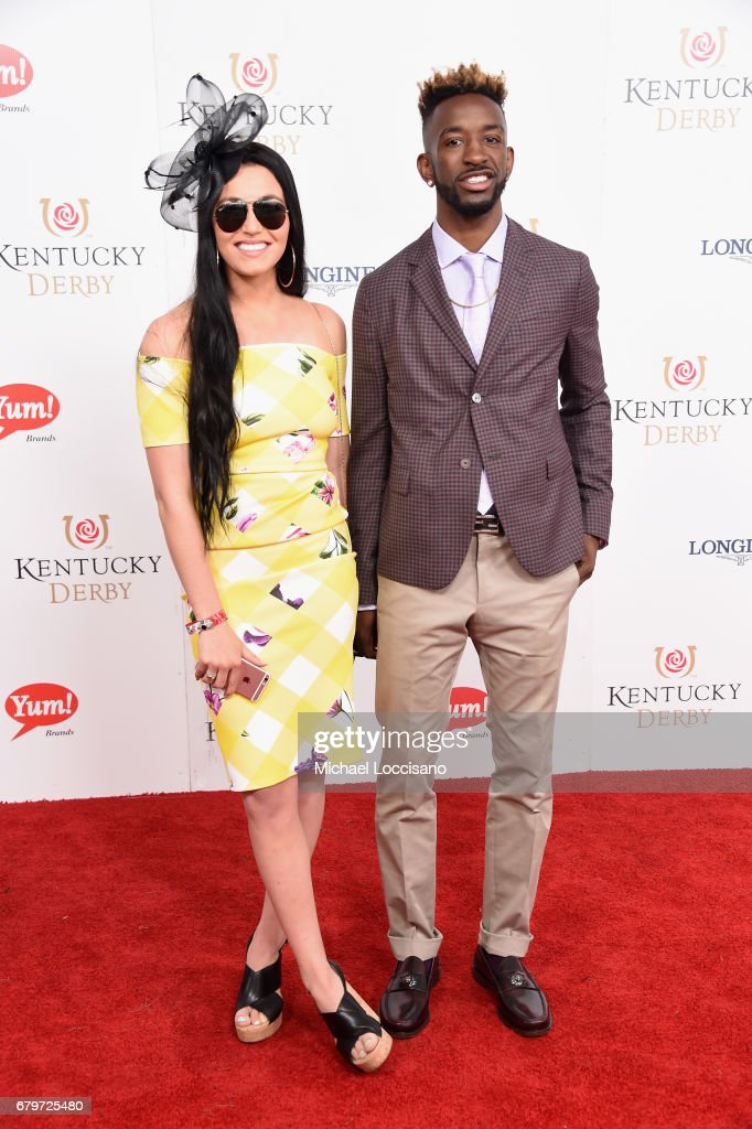 Russ Smith (R) attends the 143rd Kentucky Derby at Churchill Downs on May 6, 2017 in Louisville, Kentucky.