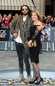 Russell Brand and his mother Barbara Brand attend the Rock of Ages Premiere on June 10 2012 at the Odeon Cinema in London