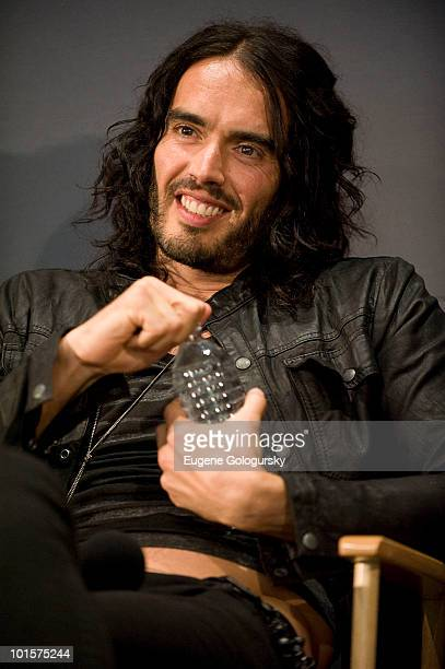 Russell Brand attends Meet The Actors 'Get Him To The Greek' at the Apple Store Soho on June 2 2010 in New York City
