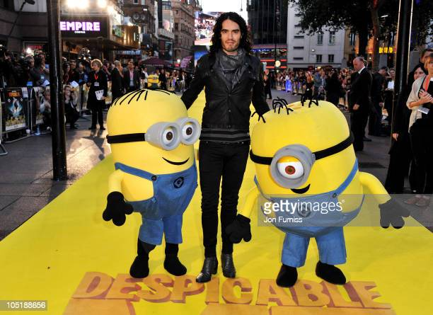 Russell Brand attends the 'Despicable Me' European premiere at Empire Leicester Square on October 11 2010 in London England