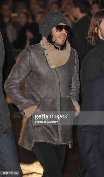 Russell Brand attends the European premiere of 'Despicable Me' at Empire Leicester Square on October 11 2010 in London England