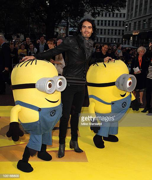 Russell Brand attends the European Premiere of 'Despicable Me' at the Empire Leicester Square on October 11 2010 in London England