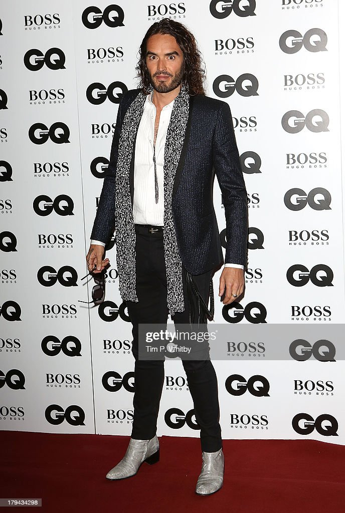 <a gi-track='captionPersonalityLinkClicked' href=/galleries/search?phrase=Russell+Brand&family=editorial&specificpeople=536593 ng-click='$event.stopPropagation()'>Russell Brand</a> attends the GQ Men of the Year awards at The Royal Opera House on September 3, 2013 in London, England.