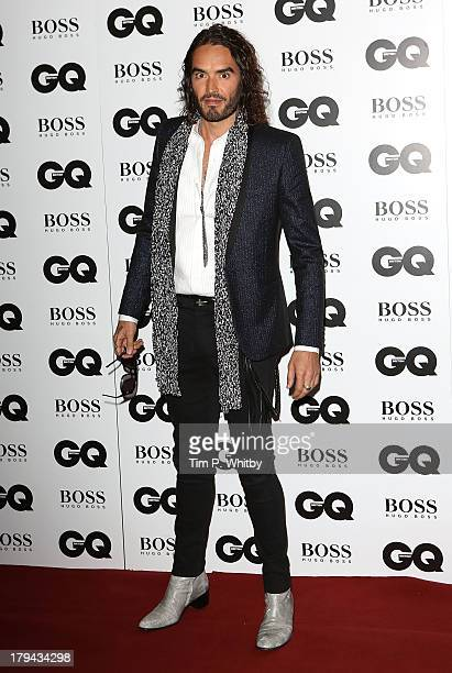 Russell Brand attends the GQ Men of the Year awards at The Royal Opera House on September 3 2013 in London England