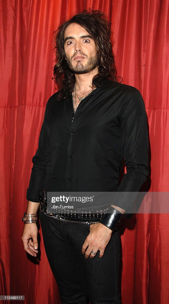 <a gi-track='captionPersonalityLinkClicked' href=/galleries/search?phrase=Russell+Brand&family=editorial&specificpeople=536593 ng-click='$event.stopPropagation()'>Russell Brand</a> during GQ Men of the Year Awards - Drinks Reception at Royal Opera House in London, Great Britain.