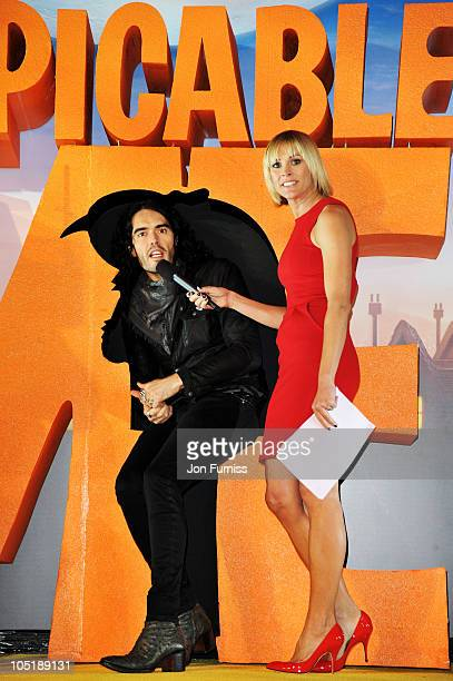 Russell Brand interviews at the 'Despicable Me' European premiere at Empire Leicester Square on October 11 2010 in London England