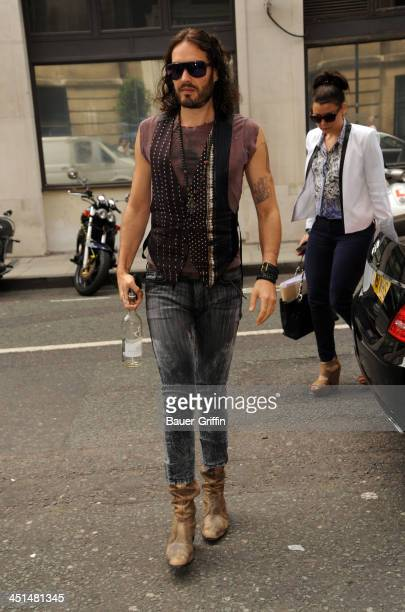 Russell Brand is seen on June 20 2013 in London United Kingdom