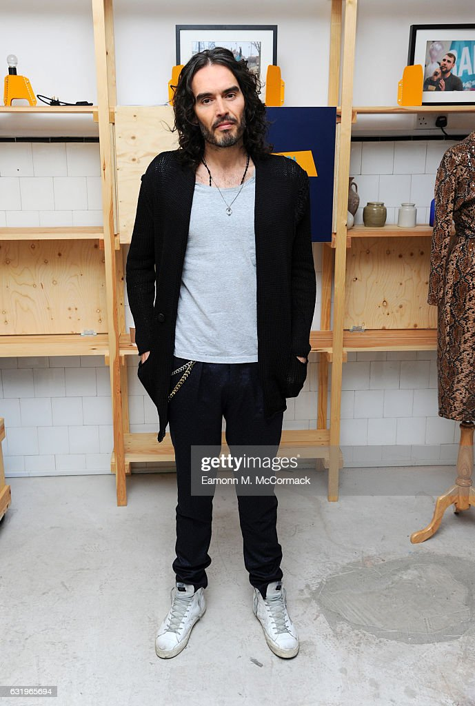 Russell Brand launches RAPt's new employment services aimed at supporting addicts and reduce re-offending at Trew Era Cafe on January 18, 2017 in London, England. Trew Era Cafe was donated by Russell Brand in September 2016 to give opportunity for employment to people in recovery from addiction.