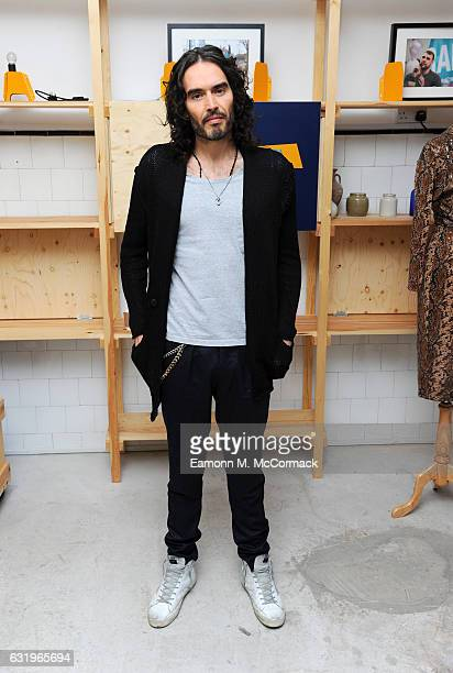 Russell Brand launches RAPt's new employment services aimed at supporting addicts and reduce reoffending at Trew Era Cafe on January 18 2017 in...