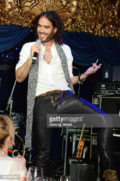 Russell Brand performs at The Hoping Foundation's 'Starry Starry Night' Benefit Evening for Palestinian Refugee Children at Cafe de Paris on June 19...