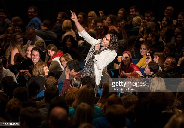 Russell Brand performs live on stage during his 'Messiah Complex' tour at Jahrhunderthalle on February 9 2014 in Frankfurt am Main Germany Next gigs...