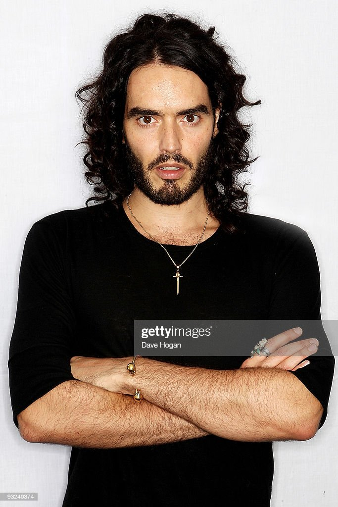 <a gi-track='captionPersonalityLinkClicked' href=/galleries/search?phrase=Russell+Brand&family=editorial&specificpeople=536593 ng-click='$event.stopPropagation()'>Russell Brand</a> poses for portraits to promote his new DVD 'Scandalous - Live At The 02' on November 13, 2009 in London, England.