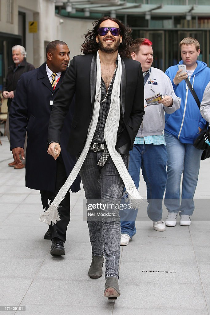 <a gi-track='captionPersonalityLinkClicked' href=/galleries/search?phrase=Russell+Brand&family=editorial&specificpeople=536593 ng-click='$event.stopPropagation()'>Russell Brand</a> seen at BBC Radio on June 24, 2013 in London, England.