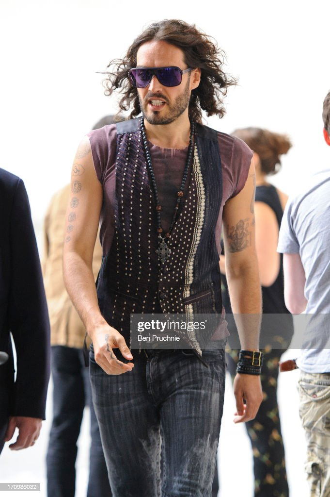 Russell Brand sighted at BBC Radio Studios on June 20, 2013 in London, England.