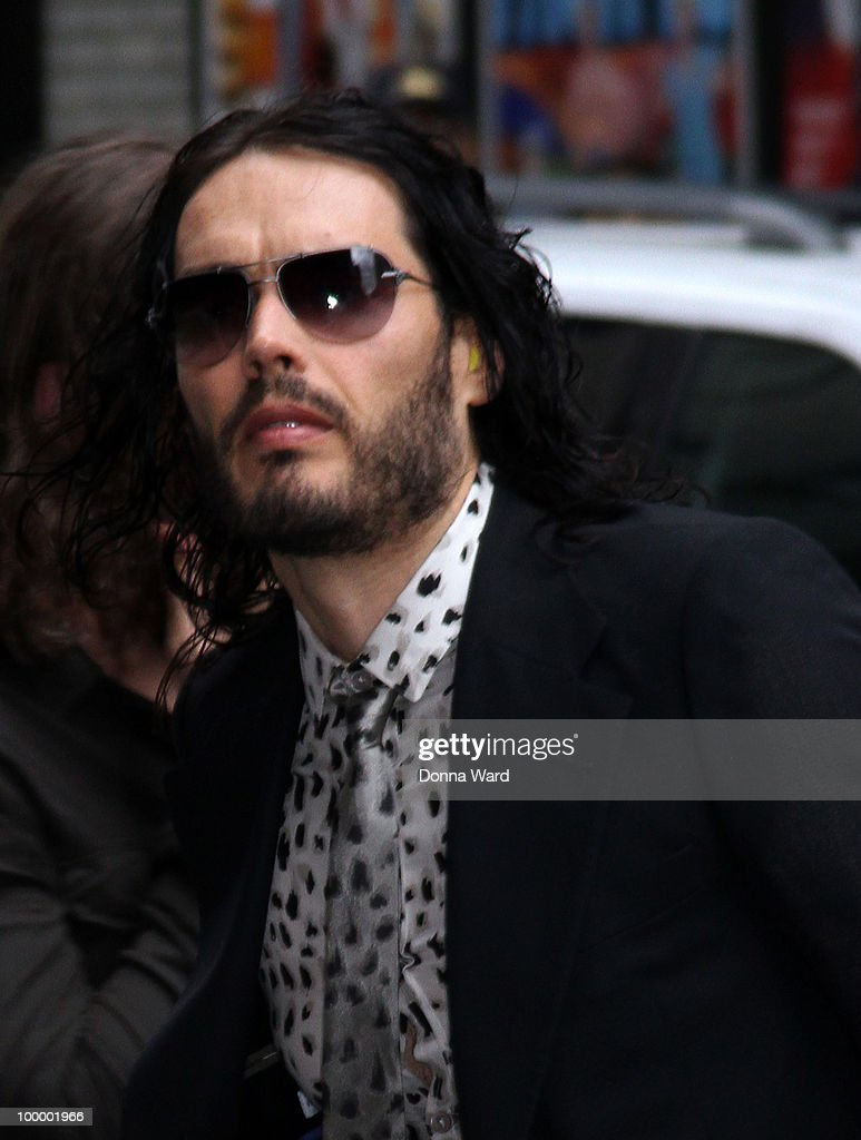 Russell Brand visits the ''Late Show With David Letterman'' at the Ed Sullivan Theater on May 19, 2010 in New York City.