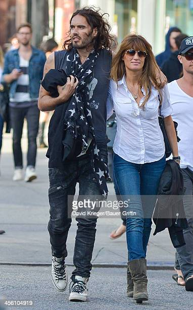 Russell Brand with Jemima Khan in downtown Manhattan on September 15 2013 in New York City
