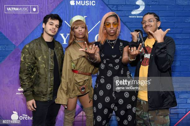 Russell Chell Kaya Mckeithan Bayli Mckeithan and Reef Mckeithan of the Skins attend the Apple Music and KYGO 'Stole The Show' Documentary Film...