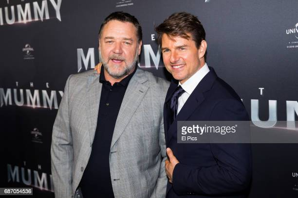 Russell Crowe and Tom Cruise arrive ahead of The Mummy Australian Premiere at State Theatre on May 22 2017 in Sydney Australia