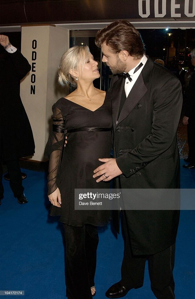 Russell Crowe And Wife Danielle Spencer, 'Master And Commander: The Far Side Of The World' Royal Premiere At The Odeon Leicester Square, London