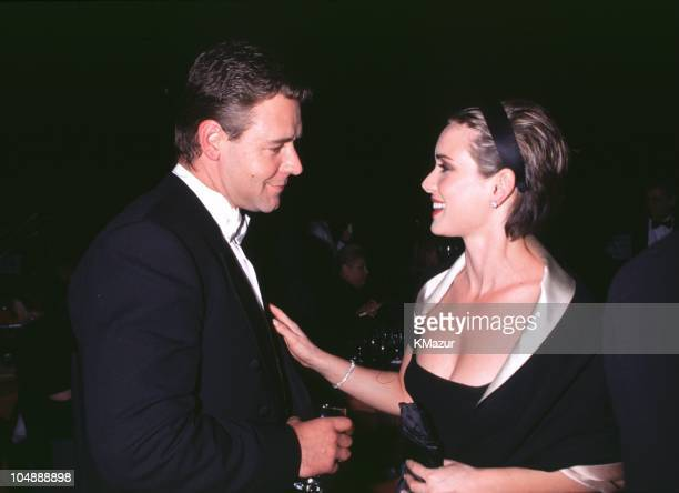 Russell Crowe and Winona Ryder during The 72nd Annual Academy Awards Governor's Ball in Los Angeles California United States