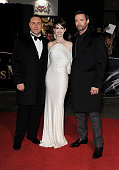 Russell Crowe Anne Hathaway and Hugh Jackman attend the World Premiere of 'Les Miserables' at Odeon Leicester Square on December 5 2012 in London...