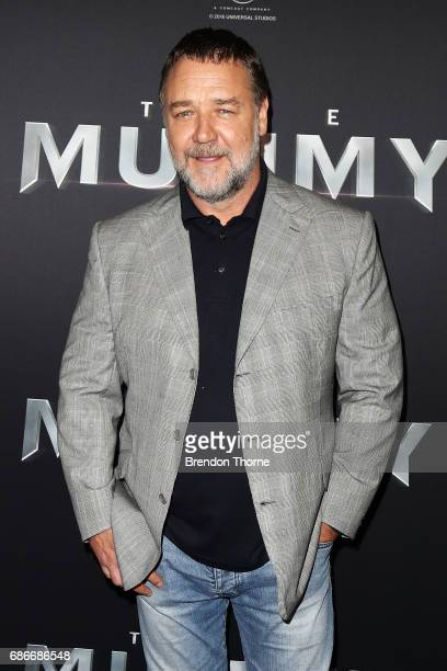Russell Crowe arrives ahead of The Mummy Australian Premiere at State Theatre on May 22 2017 in Sydney Australia
