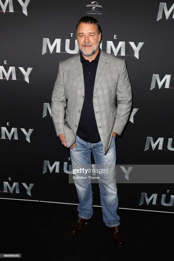 Russell Crowe arrives ahead of The Mummy Australian Premiere at State Theatre on May 22, 2017 in Sydney, Australia.