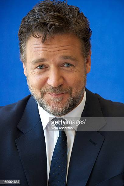 Russell Crowe at the 'Man Of Steel' Press Conference on June 3 2013 at Warner Brothers Studio in Burbank California