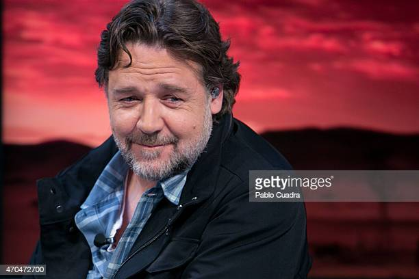 Russell Crowe attends 'El Hormiguero' Tv show at Vertice Studio on April 20 2015 in Madrid Spain
