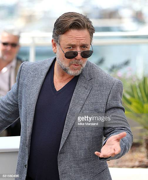 Russell Crowe attends 'The Nice Guys ' Photocall at the annual 69th Cannes Film Festival at Palais des Festivals on May 15 2016 in Cannes France